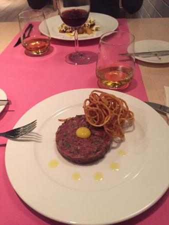 delicious steak tartare picture of bon appetit restaurant krakow tripadvisor. Black Bedroom Furniture Sets. Home Design Ideas