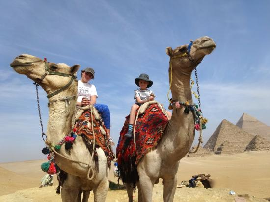 Ayman Ahmed - Tour Guide: Riding camels on the Giza Plateua - brilliant.