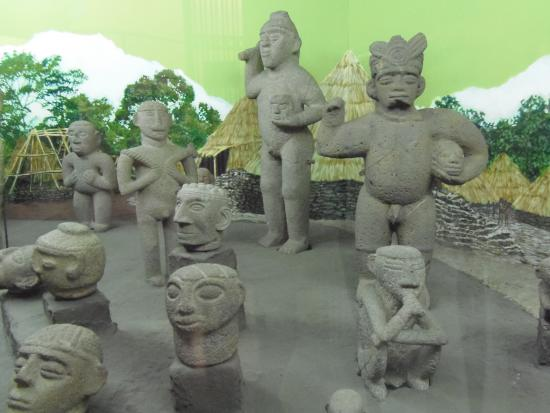 Pre columbian stone carvings of costa rican head hunters