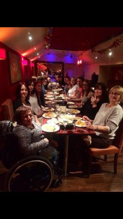 our loyal customers enjoying their christmas party at jewel balti