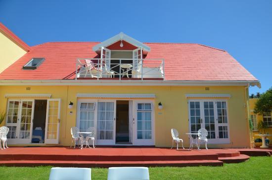 Haus am Strand - On the Beach : Außenansicht vom Strand