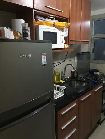 Hotel Los Pinos Punta : Apto 107 cozinha
