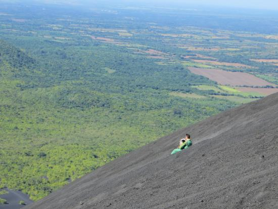 Lazybones Hostal: Volcano boarding down Cerro Negro is one of the attractions of Leon