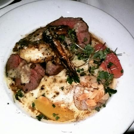 Eddie V's Prime Seafood: Shrimp and steak special