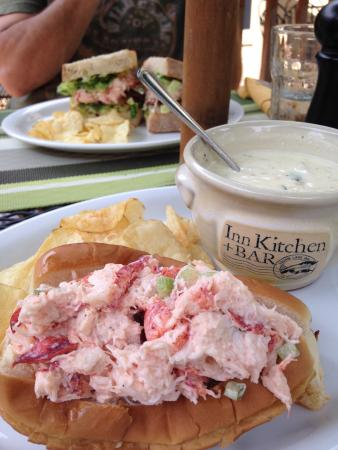 Inn Kitchen + Bar : Lobster roll and clam chowder.... Wow, can't wait for next summer