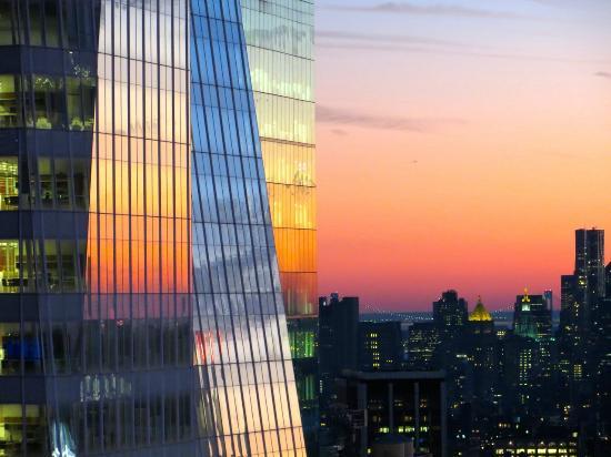 hyatt centric times square new york sunset on christmas day