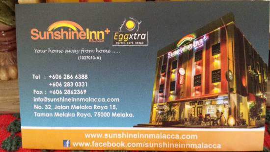 Sunshine Inn: Name card