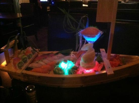 Kazumi Japanese Steakhouse and Sushi Bar : Love Boat! Yummy, Yummy! This was from our 1st visit when they 1st opened.