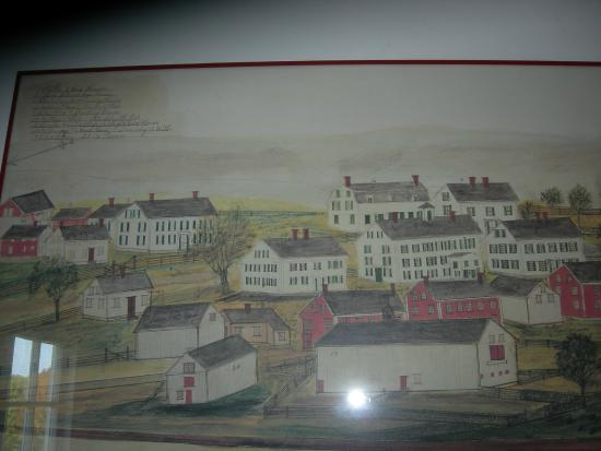 Sabbathday Lake Shaker Village: Early painting of the community