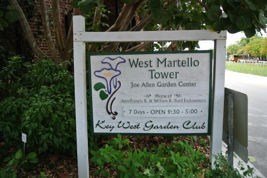 West Martello Tower: sign