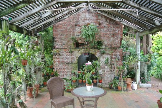 West Martello Tower: fireplace with hanging plants