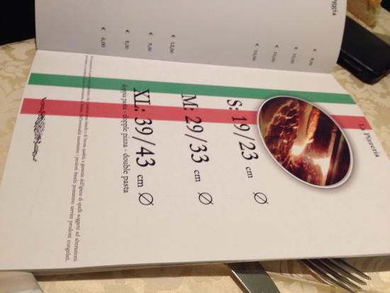 La Loggia e La Barchessa Rambaldi : La Loggia Rambaldi 3 verschiedene Pizzagrössen bestellbar