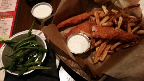 Cool Ranch Chicken Tenders, Fries, and Fried Green Beans - Picture