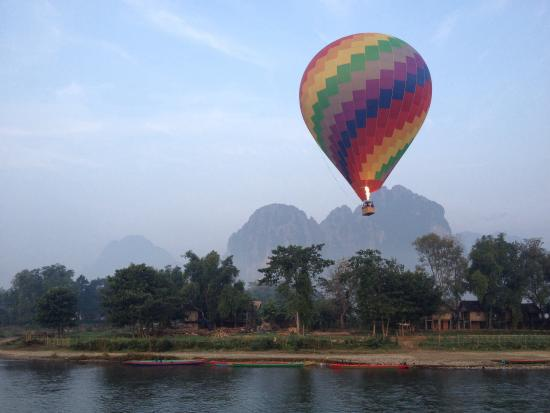 Villa Nam Song Vang Vieng: View from restaurant