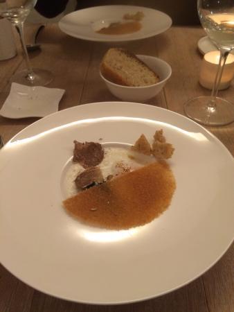 Chez Nico: Sauerrahm mit Ei und Trüffel