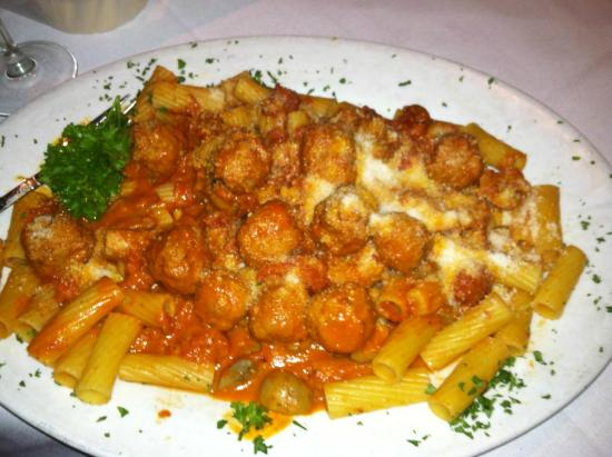American Bistro: Rigatoni with Veal & Mushroom Meatballs