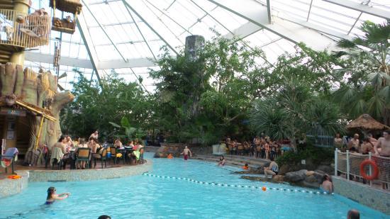 Overzicht tropisch zwembad vossemeren foto van center parcs de