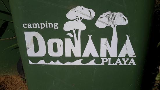 Camping Doñana Playa: Cartel del Camping