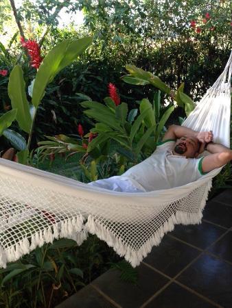 Parque Hotel Pereque: relaxing  on the veranda hammock