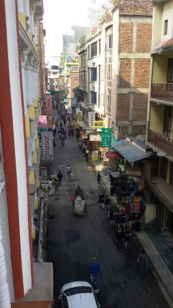Hotel Happy Home: View from baranda..