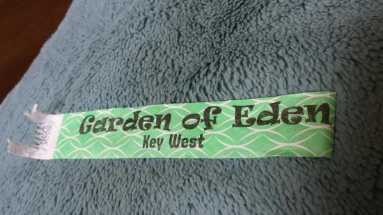The 5 00 Wrist Band Picture Of Garden Of Eden Key West