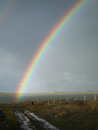 Sandwick, UK: A Rainbow over Via Orkney...A sign of Hope
