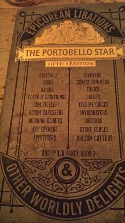 Portobello Star: menu