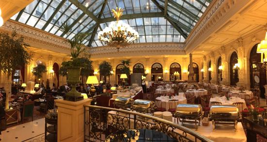 Intercontinental Paris Le Grand The Main Meeting Point And Restaurant Area With Atrium In