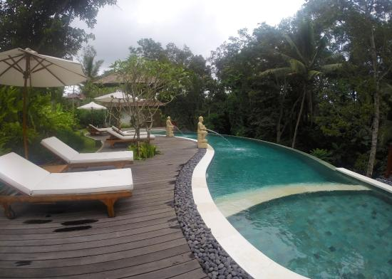 Pool view from foyer