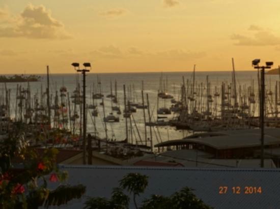 Residence des Iles Martinique: coucher de soleil