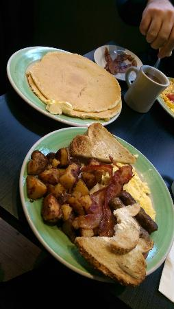 This is the Stacked combo, plus pancakes