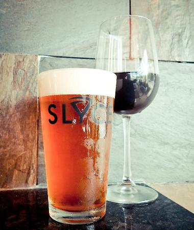 Slyce carries a wide selection of fine wines and craft beer