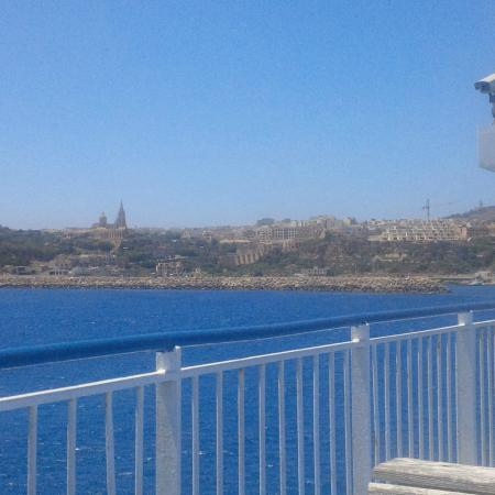 Corner Hostel: vue du ferry pour aller de malte à GOZO