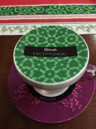 Rzym Restauracja: Pyszna zielona arabska herbata z miodem