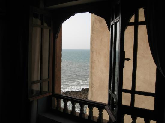 Palais des Remparts : Side view of sea from our room (305)