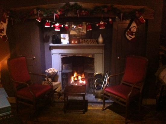 Blenheim House: Festive Roaring open fire