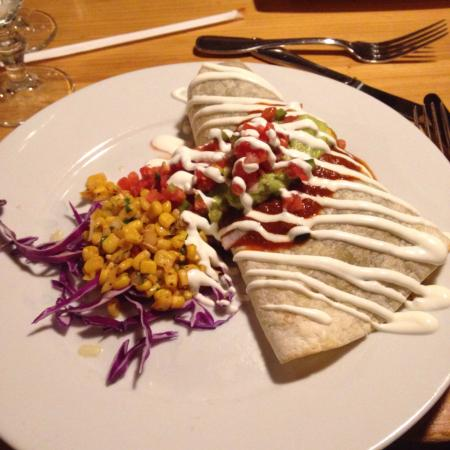 Gringo Jack's : A burrito.   A lovely presentation and it tasted delicious!