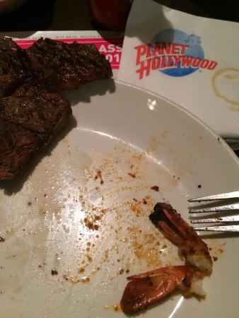 Refired old steak that I return and lie to me about been