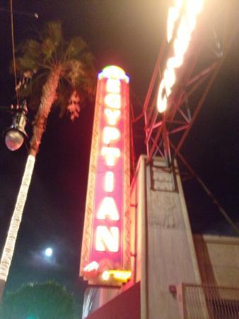 Egyptian Theatre: exterior signage