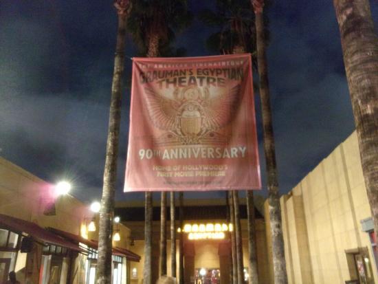 Egyptian Theatre: exterior banner