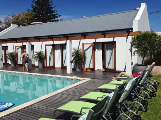 Beluga House: Rum och poolområde