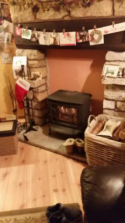 Larick House B&B: Cosy log burner