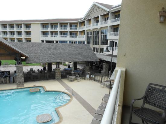 Auburn Marriott Opelika Hotel & Conference Center at Grand National: view from our balcony