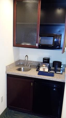 SpringHill Suites Dallas DFW Airport East/Las Colinas Irving : Microwave and Sink