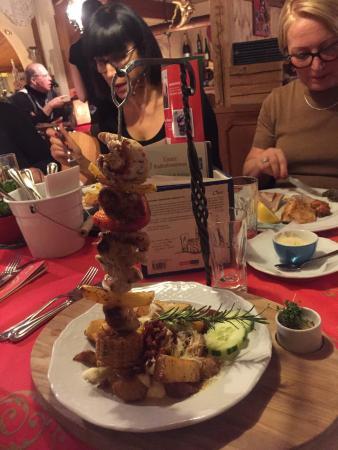 Restaurant Landhaus-Stüberl: Spiedo di tacchino