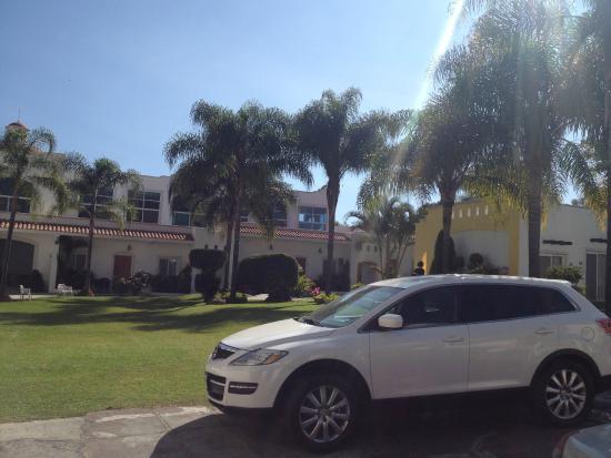 Hotel Canarios : Desde la entrada del hotel