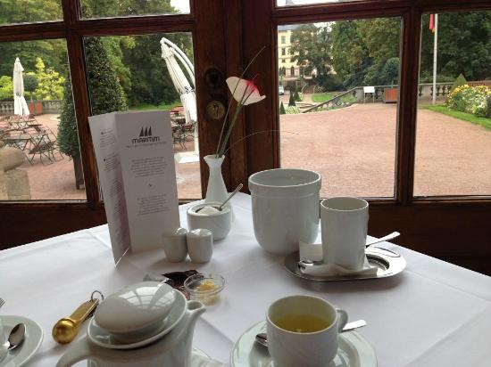 Maritim am Schlossgarten Fulda: View from breakfast table