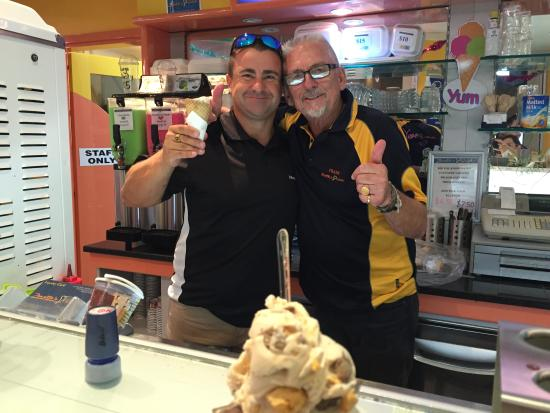 Zanette's Gelato: Best Ice cream at the Gold Coast and Frank is the perfect host.