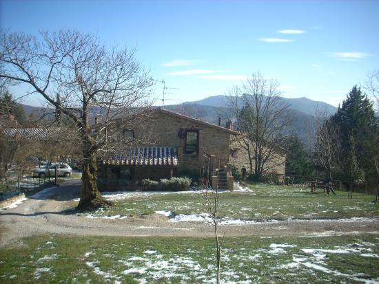 Selva di Santa Fiora, Itália: Vista della casa con i due piccoli appartamenti