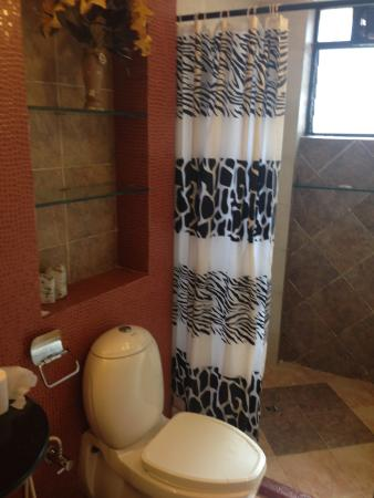 Renzo's Inn: Bathroom doesn't look bad in this photo, but you also can't smell what we smelled
